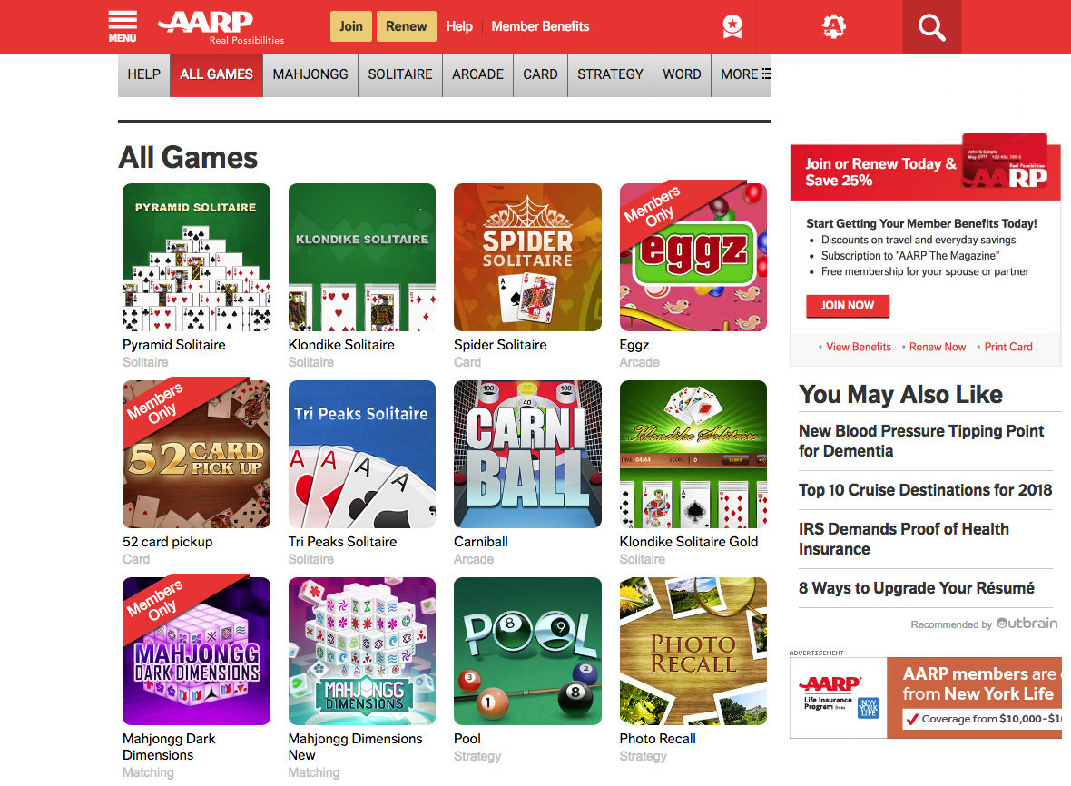 LearningRx Reviews AARP Games - LearningRx Reviews